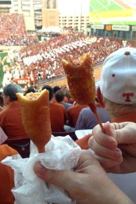 Savoring Fletcher's corny dogs inside DKR = a dream come true!!!