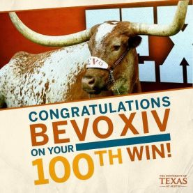 Strong's first, Bevo's 100th, my 159th