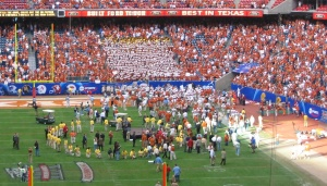 12/3/2005: After the Big XII championship game over Colorado (that confirmed the Horns were going to the national championship), Reliant Stadium, Houston