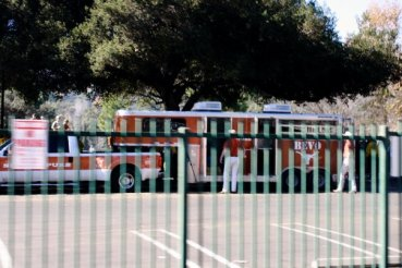 1/7/2010: On the Rose Bowl grounds before the 2009 BCS championship game, Pasadena