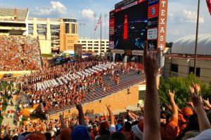 9/26/2015: My last pic of Bevo XIV, taken during the Oklahoma State game, DKR