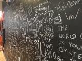 Co-op chalk wall