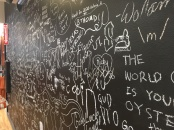 Co-op chalk wall